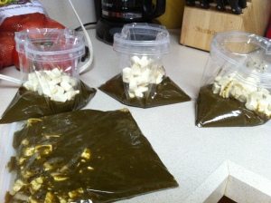 To store, I like to pour single servings into bags, top with tofu, and store in the freezer for a quick dinner later.
